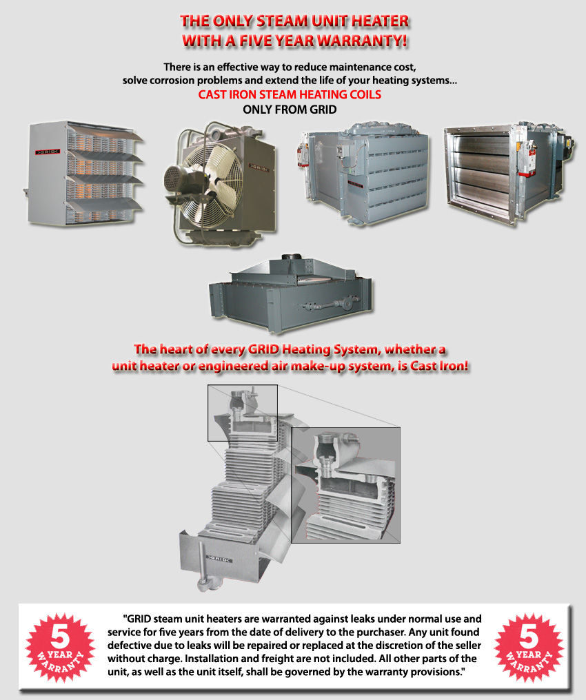 Grid Industrial Heating, One Piece Cast Iron Heat Transfer Surfaces ...